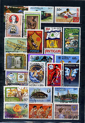 nice lot former ANTIGUA, all postally used