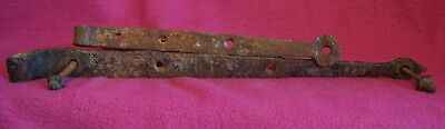 Really Old Hand Forged Gate Hangers / Hinges