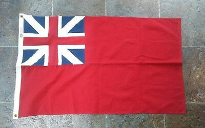 Vintage 1940's British Union Jack Flag Defiance Annin Rare Advertising Sign NOS