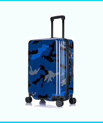 D965 Blue Universal Wheel Coded Lock Travel Suitcase Luggage 20 Inches W