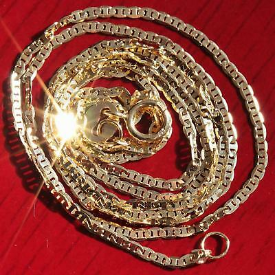 """10k yellow gold necklace 20"""" solid gucci link chain vintage 0.8gr very strong"""