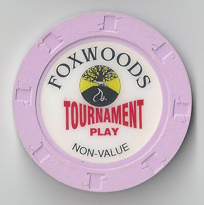 Ncv Connecticut Foxwoods Indian Casino Chip Purple Tournament Play Poker