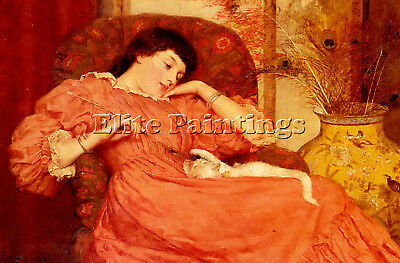 Skipworth Frank Markham Indolence Artist Painting Oil Canvas Repro Wall Art Deco