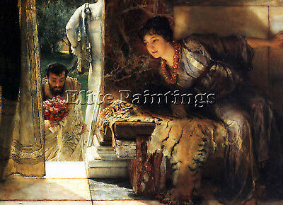 Lawrence Alma Tadema Welcome Footsteps Artist Painting Reproduction Handmade Oil