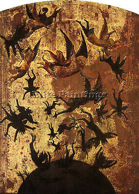 Rebel Angels Master French Early 1300S Artist Painting Oil Canvas Repro Art Deco