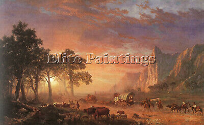 Bierstadt21 Artist Painting Reproduction Handmade Oil Canvas Repro Wall Art Deco