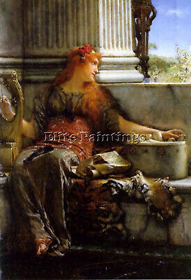 Lawrence Alma Tadema Poetry Artist Painting Reproduction Handmade Oil Canvas