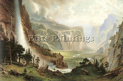 Bierstadt27 Artist Painting Reproduction Handmade Oil Canvas Repro Wall Art Deco