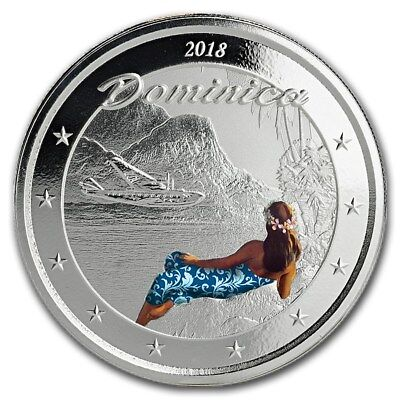2018 Eastern Caribbean 8 Series Dominica Nature Isle 1 oz Silver Colorized Proof