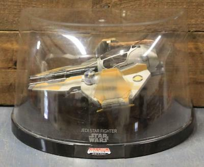 Star Wars Titanium Ultra Die-Cast Anakin's Jedi Star Fighter In Display Case