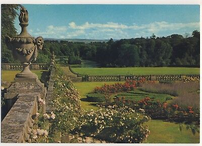 Old Postcard - Mellerstain House - The Terraced Gardens and Lake - Unposted M137