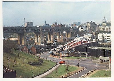 Postcard - The High Level & Swing Bridges, Newcastle (NEPR12) - Unposted 0252