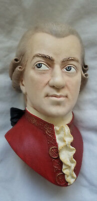 """Rare """"Mozart"""" Vintage Bossons Chalkware 1991 Signed"""
