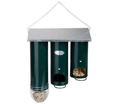 Bird Feeder Design Triple Organ Pipe Wild Birds Feeding Garden Hanging Station