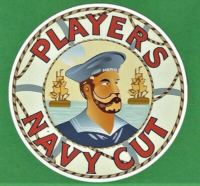 PLAYERS NAVY CUT Vinyl Decal Sticker TOBACCO CIGARETTE