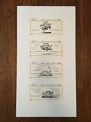 CARS Disney PIXAR 2006 Crew Gift Mater Story Boards by Joe Ranft LIMITED & RARE