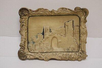 Antique Vintage HM & Co Made in Bohemia Hastings Castle Wall Placque Ceramic