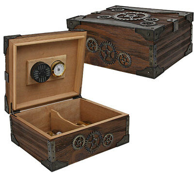 Steampunk 50-ct Humidor