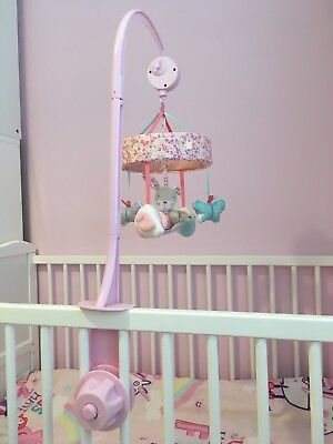 Baby Girls Pink Cot Musical Mobile