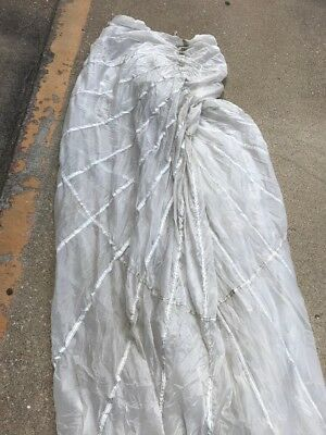Military White Parachute 30ft  Carry Bag Car and Boat Cover Canopy