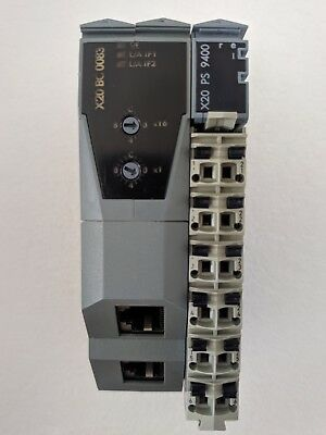B&R X20 BC 0083 Powerlink ethernet PS 9400 and BB 80 modules