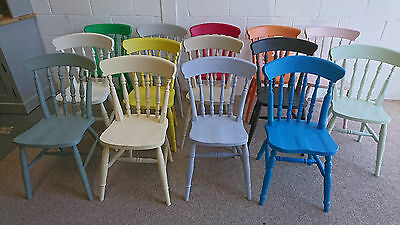 New Beech Farmhouse style Dining Chairs Sprayed painted in Cream RAPID DISPATCH