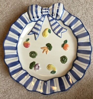 fitz and floyd vegetable plate
