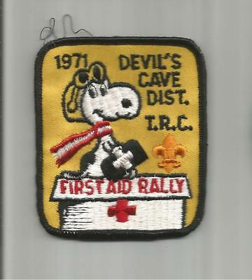 Vintage BSA ☆ 1971 DEVIL'S CAVE DISTRICT TRC First Aid Rally ☆ Snoopy PATCH