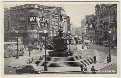 Cartolina d'epoca: UK, London Piccadilly Circus - posted 1957