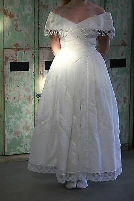 PRETTY Vintage 1991 Jessica McClintock Gillian Wedding Bridal Dress Gown sz 4