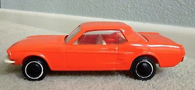 Vintage 1960's Tonka Toys Car Carrier Ford Mustang in Muscle Orange...Clean!