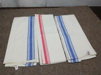 Never Used 3 Vintage Classic Striped Martex & Startex Kitchen Towels Lot-#1