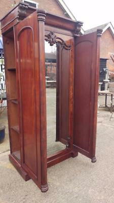 Unusual Victorian Single Wardrobe Side sliding  Doors