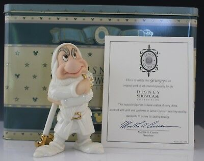 Disney Showcase Collection Lenox Porcelain Snow White Grumpy Porcelain Figurine