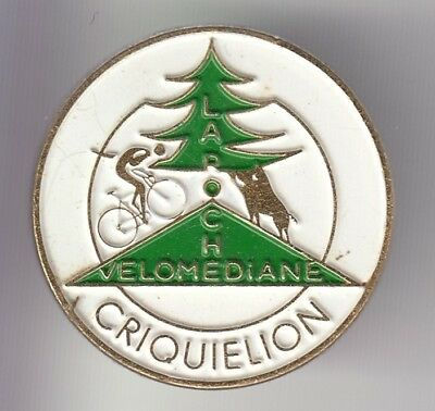 Rare Pins Pin's .. Velo Cyclisme Cycling Belgique Velomediane Criquielion  ~Dw