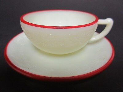"""McKee Glass Company Red Ships Advertisement Ad """"De Luxe Kitchenware"""""""