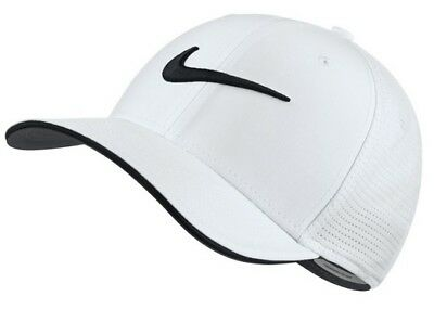 92d5349680c3e NIKE CLASSIC 99 Hat Mens Fitted Golf Cap White 848052-101 Pick Size ...