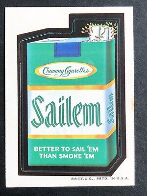 1973 Topps Wacky Packages Original 2nd Series SAILEM RED LUDLOW Back Rare