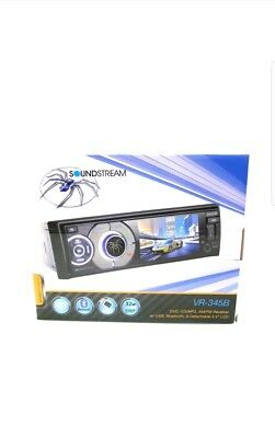 "Soundstream Vr345B 3.4"" Cd Dvd Bluetooth Mp3 Usb Sd 208W Amplifier Car Stereo"