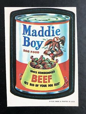 1973 Topps Wacky Packages Original 1st Series Maddie Boy BLACK LUDLOW Very Rare