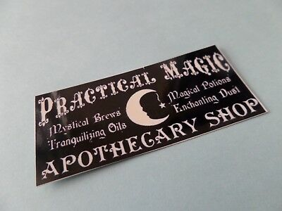 Apothecary shop Practical Magic sign Dollhouse Miniature 1:12  Witch