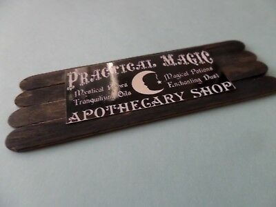 Practical Magic sign  Apothecary Shop Dollhouse Miniature 1:12  Witch wood
