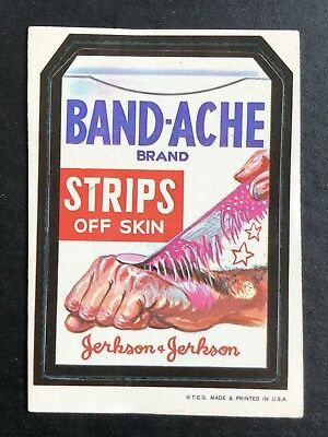 1973 Topps Wacky Packages Original 1st Series BANDACHE BLACK LUDLOW Very Rare