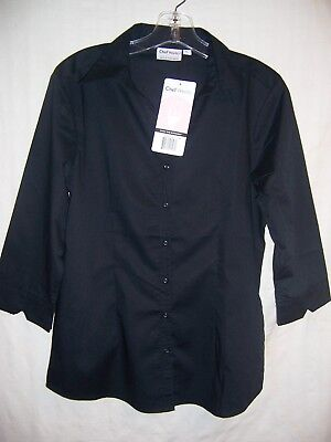 Chef Works Blouse - size L, NWT - black poly/cotton
