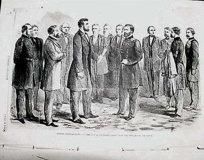 Lincoln Promotes Grant. General Custer. Civil War Harper Weekly Dahlgren Mobile