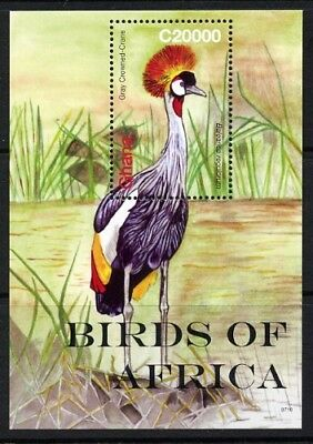 2007 Ghana - Gray Crowned Crane Mini Sheet MUH
