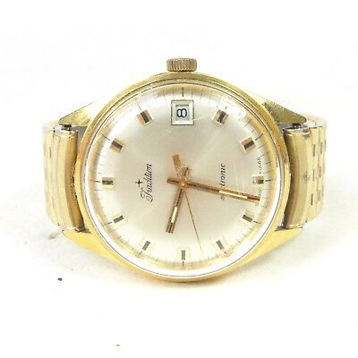Vintage TRADITION Electronic Swiss Made Gold Toned Watch Wristwatch