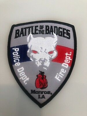 Old Monroe La Louisiana Battle Of The Badges Police Patch