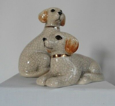 Takahashi Vintage Porcelain Dog Salt and Pepper Shakers