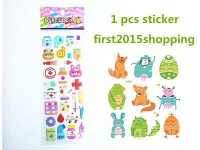 1pc Cartoon Stickers Doll Craft Bear  Kid Party Scarpbooking Toy Stick A1 2018
